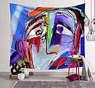 abordables -tapisserie murale art déco couverture rideau pique-nique nappe suspendue maison chambre salon dortoir décoration fibre de polyester nouveauté moderne abstrait visage humain peinture à l'huile couleur