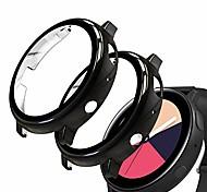 abordables -protecteur d'écran compatible avec samsung galaxy watch active2 44 mm, paquet de 2 films en verre trempé avec étui rigide pour pc, noir