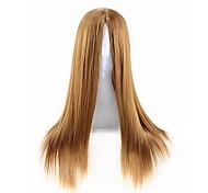 economico -Parrucca cosplay parrucca da donna con capelli lunghi lisci da 70 cm