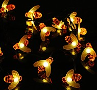 abordables -guirlandes d'abeilles solaires guirlandes d'abeilles en plein air avec 8 modes d'éclairage lumières de bourdon solaires imperméables pour patio cour jardin herbe mariage décoration de fête de noël