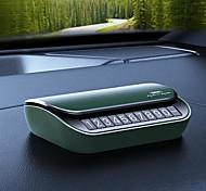 economico -remax rt-sp18 piastra di parcheggio temporanea aromaterapia auto arresto temporaneo scheda di parcheggio numero di telefono piastra di visualizzazione verde& colori blu a scelta 1 pz zn abs