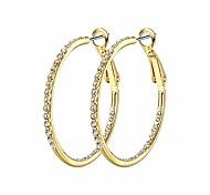economico -1 paio di orecchini a cerchio per donna - set di orecchini a cerchio grandi ipoallergenici leggeri placcati oro 14k (35 mm), oro