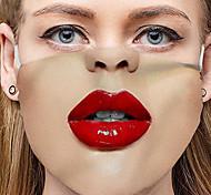 abordables -2 pièces modèles chauds masques tricotés imprimés drôles pour hommes et momen masques en tissu d'expression de visage drôle