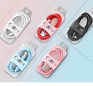 economico -Micro USB USB C Cavi Alta velocità Carica rapida Trasmissione dati 2.4 A 1.0m (3 piedi) PVC Per Xiaomi MI Samsung Huawei Appendini per cellulare