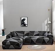 economico -fodera per divano geometrica in 1 pezzo morbido tessuto elasticizzato con fodera per poltrona da 1 ~ 4 cuscini / divanetto / tre posti / quattro posti / divano a forma di l, facile da installare (1