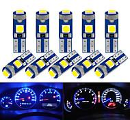 abordables -10 pcs T5 LED Ampoule W3W W1.2W LED Canbus Voiture Intérieur Lumières Tableau De Bord Réchauffement Indicateur Coin Auto Instrument Lampe 12V