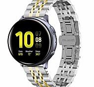 economico -compatibile per cinturini galaxy watch active 2 da 40 mm e active2 da 44 mm, cinturino in acciaio inossidabile da 20 mm compatibile per samsung galaxy active 2 (argento + oro)