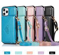economico -telefono Custodia Per Apple Per retro Custodia in pelle iPhone 12 Pro Max 11 SE 2020 X XR XS Max 8 7 6 Resistente agli urti Tinta unica pelle sintetica