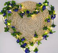 economico -nuovo fiore di ciliegio vite luci a stringa led 2.2m 30 led fiore artificiale alimentato a batteria luce fata natale festa di famiglia matrimonio luci decorazione san valentino