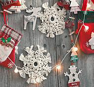abordables -noël fête jour coussin décoratif motif de neige affichage tissé à la main décoration murale à la maison