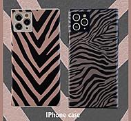 abordables -téléphone Coque Pour Apple Coque Arriere iPhone 12 Pro Max 11 SE 2020 X XR XS Max 8 7 Antichoc Lignes / Vagues TPU