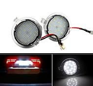 abordables -2 pièces lumière blanche super brillante 18 LED sous les lumières de flaque de rétroviseur latéral pour Ford F-150 Edge Mondeo Explorer Taubus F-150 Heritage lampe de signalisation de voiture étanche