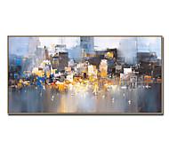 economico -dipinto a mano di grandi dimensioni dipinti ad olio di paesaggi urbani astratti su tela immagine moderna della parete per la decorazione domestica senza cornice