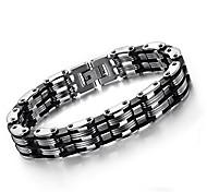economico -bracciale a catena da uomo joyen in acciaio inossidabile 316l maglia grumetta larghezza 15 mm, colore argento (bracciale da uomo)