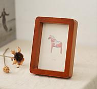 economico -Cornice per foto in ferro con personalità in legno, cornice per foto in legno, ornamenti semplici e moderni