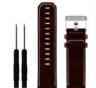 economico -cinturino dell'orologio di ricambio in vera pelle per garmin fenix 3 / fenix 3 hr / fenix 5x cinturino dell'orologio cinturino 26mm (marrone)