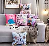 abordables -Nordic pop bande dessinée housse de coussin oreillers décoratifs pour la maison animaux canapé de voiture coussins en lin impression taie d'oreiller personnalisée