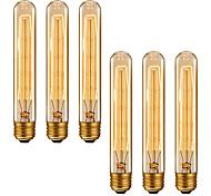 abordables -6 pcs 4 pcs Dimmable Rétro Edison Ampoule E27 220 V 40 W T185 Filament Ampoules À Incandescence Ampoules Vintage Edison Lampe