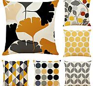 abordables -housse de coussin 6pc lin doux décoratif carré housse de coussin taie de coussin taie d'oreiller pour canapé chambre 45 x 45 cm (18 x 18 pouces) qualité supérieure lavable en mashine