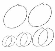 abordables -de créoles en argent sterling | créoles en argent plaqué or blanc | grandes créoles pour femmes filles (50/60 / 70mm)