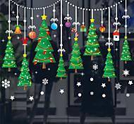 abordables -Jouets de Noël Déco de fenêtre de Noël Autocollants de fenêtre Stickers muraux Arbre de Noël joyeux Noël Imperméable Amovible Faveur de fête PVC 6 pcs Enfant Adultes 45*60cm Fournitures de fête de