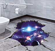 abordables -cosmique galaxie stickers muraux 3d magie voie lactée espace extra-atmosphérique satellite planète autocollants peintures murales papier peint pour la décoration intérieure plancher plafond salon
