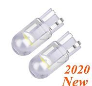 abordables -2 pcs T10 W5W WY5W COB LED Voiture Coin Parking Lumière Tourner les Ampoules Latérales Instrument Lampe Auto Plaque D'immatriculation Lumière Blanc Rouge Jaune Bleu