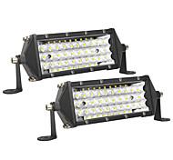 abordables -2 pièces ultra mince 8 pouces 5 rangées LED lumière de travail tout-terrain voiture camion conduite antibrouillard lampes accessoires de voiture lumière blanche