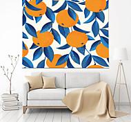 abordables -Tapisserie murale art décor couverture rideau pique-nique table tissu suspendu maison chambre salon décoration polyester feuille d'orange