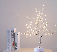 abordables -108 LED USB Batterie Alimentation Interrupteur Tactile Arbre Lumière Nuit Fée Lumière Lampe De Table Pour La Maison Chambre De Mariage Fête De Noël Décor