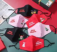 economico -2 pezzi maschere natalizie ricamo computer maschere in cotone a tre strati polvere e foschia pm2.5 con filtro