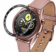 abordables -anneau de lunette compatible avec la montre Samsung Galaxy 3 45 mm, protecteur de couvercle de lunette en acier inoxydable étui de protection anti-rayures de style adhésif (noir, 45 mm)