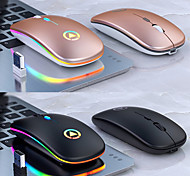 abordables -Sortie d'usine A2 Bluetooth sans fil / Sans fil 2.4G Optique souris silencieuse / souris de charge Multi-couleurs rétro-éclairé 1600 dpi 3 niveaux de DPI réglables 4 pcs Clés 2 touches programmables