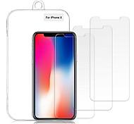abordables -protecteur d'écran iphone xs / x, film anti-éclats de protection d'écran en verre trempé incassable 0.26mm 9h [compatible tactile 3D& 3 paquet]