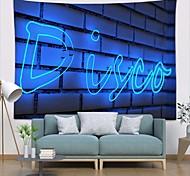 abordables -tapisserie murale art déco couverture rideau pique-nique table tissu suspendu maison chambre salon dortoir décoration polyester fibre nature morte moderne néon bleu
