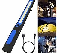abordables -Lampe de réparation magnétique de voiture rechargeable usb lampe torche camping lanterna suspension crochet lampe coin, 3w, bleu