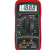 economico -an8205c multimetro digitale ac / dc amperometro volt ohm tester multimetro con termocoppia lcd retroilluminazione portatile