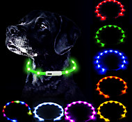 abordables -collier de chien led rechargeable par usb lueur dans le collier sombre pour animaux de compagnie, colliers lumineux en silicone pour la marche nocturne du chien (bleu)