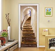 abordables -3D porte d'escalier auto-adhésif créatif porte autocollants salon décoration maison étanche stickers muraux