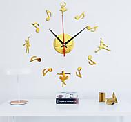 abordables -Nouvelle horloge ballet montre horloges murales 3d bricolage acrylique miroir autocollants décoration de la maison salon aiguille de quartz