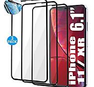 abordables -[Pack de 3] Protecteur d'écran à lèvres surélevées pour protecteur d'écran iPhone XR, protecteur d'écran iPhone 11, film en verre trempé (XR / 11)