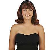 economico -parrucca marrone per adulti anni '50