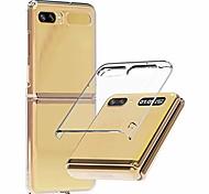 economico -nukin, custodia per telefono in policarbonato trasparente per galaxy z flip, custodia per telefono sottile con rivestimento duro premium - trasparente