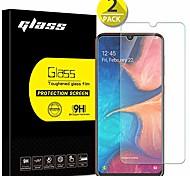 economico -[Confezione da 2] proteggi schermo per galaxy a20, design anbel durezza 9h [3d touch] [case friendly] vetro temperato ultra-trasparente per samsung galaxy a20 (2019)