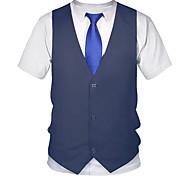 economico -Per uomo Magliette maglietta Stampa 3D Pop art 3D Taglie forti Con stampe Manica corta Per uscire Top Moda città Punk e gotico Nero Rosso Giallo