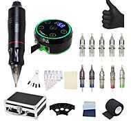 abordables -BaseKey Kit de tatouage professionnel Machine à tatouer - 1 pcs Machines à tatouer, Professionnel / Bruit faible / Meilleure qualité Alliage d'aluminium 18 W Stylo de tatouage / Boîtier Inclus