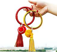 abordables -5 pièces bracelet en cuir porte-clés bracelet porte-clés bracelets gland bracelet porte-clés chaîne pour femmes filles