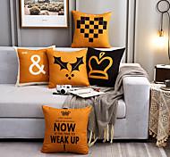 abordables -Motif géométrique jaune polyester coussin housse de coussin voiture décoration de la maison canapé-lit taies d'oreiller décoratives