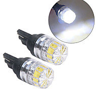 abordables -nouveau 2 pièces haute qualité faible consommation d'énergie haute luminosité t10 5050 5smd led voiture véhicule côté feux arrière ampoules lampe blanc # 266636