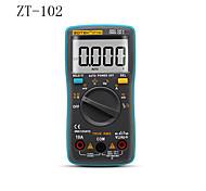economico -zt102 multimetro portatile digitale auto range 6000 conteggi retroilluminazione amperometro voltmetro ohm manuale utente inglese / russo